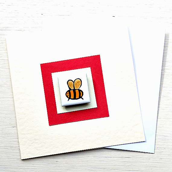 Bee Birthday Card, Bee Card, Greeting Card, Magnet, Blank Card, Thankyou Card,