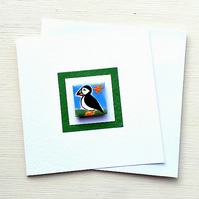 Puffin Card, Birthday Card, Greeting card, Blank Card, Magnet Card