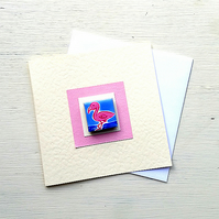 Flamingo Card, Birthday Card, Greeting card, Blank Card, Magnet Card, For Her,