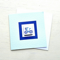 Bicycle Card, Birthday Card, Magnet Card, Blank Card, Cycling, Bike Card, Blue