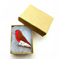Robin Brooch, Bird Brooch, Gifts for Mum, For Her, Gift for Girls