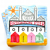 Brighton Coaster, Ceramic Coaster, Placemat, Homewares, Royal Pavilion, Seaside,