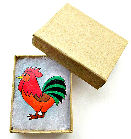 Cockerel Brooch, Bird Brooch, Gifts for Mum, For Her, Gift for Girls