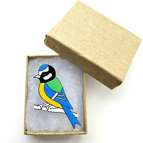 Blue Tit Brooch, Bird Brooch, Gifts for Mum, For Her, Gift for Girls