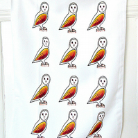 Owl Tea Towel, Owl Cloth, Gifts for Mum, For Her, Kitchen Accessories