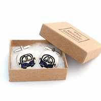 Campervan Cufflinks Purple, Combi, Wedding, For Him, Groom, Splitscreen