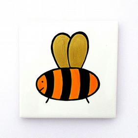 Bee Coaster, Ceramic Coaster, Placemats, Homewares, Insect Coaster, Personalised