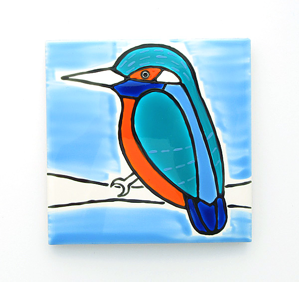 Kingfisher Coaster, Ceramic Coaster, Placemats, Homewares, Birds, Personalised