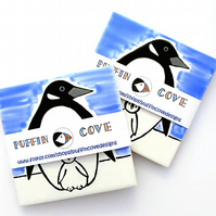 Penguin Coaster, Ceramic Coaster, Placemat, Homewares, Birds, Personalised