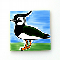 Lapwing Coaster, Ceramic Coaster, Placemats, Homewares, Birds, Personalised
