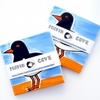 Oystercatcher Coaster, Ceramic Coaster, Placemat, Homewares, Birds, Personalised