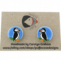Puffin Cufflinks, Bird Cufflinks, Gift for Dad, For Him, Wedding Cufflinks, Sea