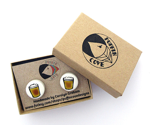 Beer Cufflinks, Men's Gifts, Gift for Dad, For Him, Wedding Cufflinks, Groom