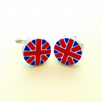 Union Jack Cufflinks, Men's Gifts, Gift for Dad, For Him, Wedding Cufflinks