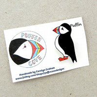 Puffin Acrylic Brooch, Bird Brooch, Gifts for Mum, For Her, Gift for Girls