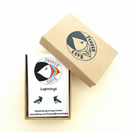 Lapwing Earrings, Bird Studs, Acrylic, Gift for Her, For Mum, Jewellery,