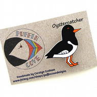 Oystercatcher Brooch, Bird Badge, Gift for Mum, For Her, Gift for Girls, Seaside