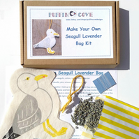 Seagull Lavender Bag Kit, Diy Craft Kit, Sea Bird Sewing Kit, Free UK Delivery