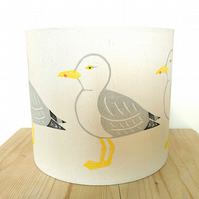 Seagull Lampshade, Bird Lampshade, Seabird, Seaside Decor, Coastal, Linoprint,