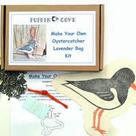 Oystercatcher Craft Kit, Lavender Bag Kit, Diy Craft Kit, Free UK Delivery