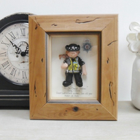 PERSONALISED POLICE GIFT, Female Retirement, Promotion, New Job, Birthday Framed