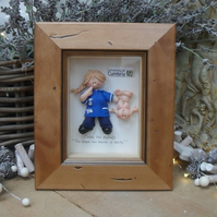 PERSONALISED MIDWIFE GIFT, Framed Polymer Clay Characters, Retirement, Promotion