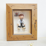 PERSONALISED DOCTOR GIFT, Male Framed Polymer Clay Characters, Retirement