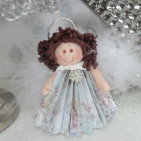 Christmas Angel Tree Decoration, Xmas Polymer Clay, Paper Fold Ornament
