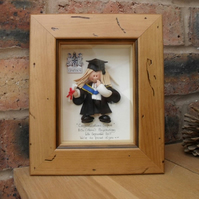 PERSONALISED Graduation Gift, Female Graduate, Custom Made Polymer Clay Characte