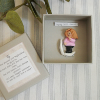 Personalised Humorous Birthday Gift, More than just a Card, Boxed Miniature