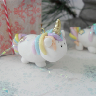 UNICORN HANGER, Christmas Tree Ornament, Mini Rainbow Decoration