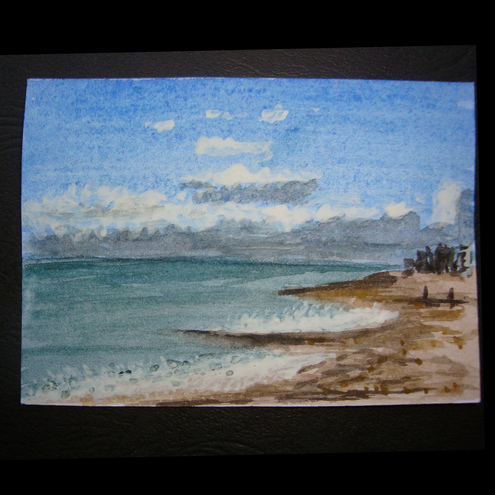 Seascape Worthing Beach aceo