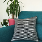 'Deco Diamond' Geometric Handwoven Cushion