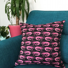 'Shaun the Prawn' Jacquard Woven Cushion (40cm X 40cm)