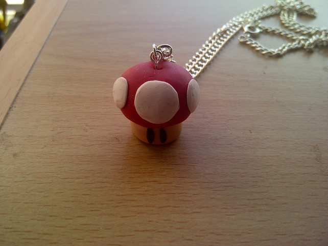 Red Super Mario Mushroom Necklace