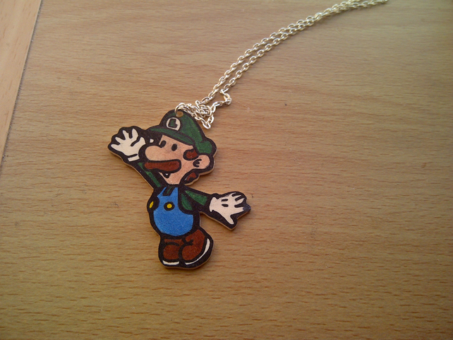 Paper Mario Luigi Necklace