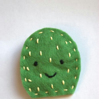 Felt Cactus Light Green Brooch
