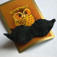Small Moustache Brooch