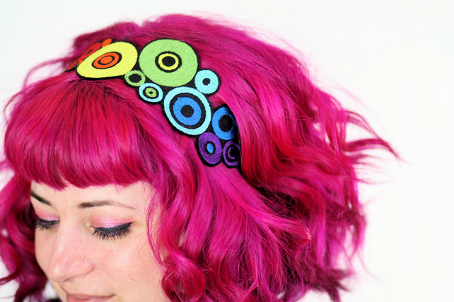 Rainbow Circles Headband
