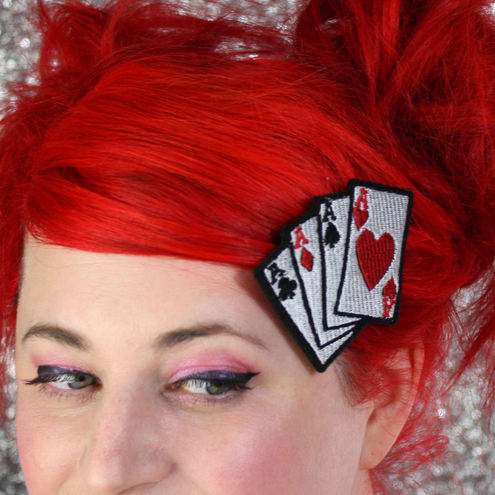 Playing Cards, Aces, Poker, Hair Clip