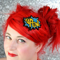 Teal and Sunshine Yellow KAPOW Hair Clip