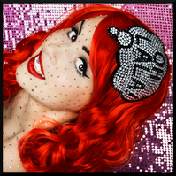 Oh La La! rhinestone comic inspired fascinator