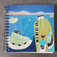 Illustrated cover notebook