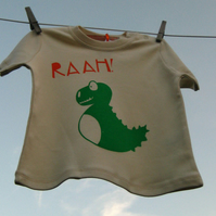 Friendly Little Dino Organic Cotton Baby T Shirt