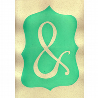 Ampersand hand screenprinted poster - mint green