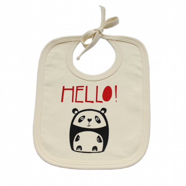Little Panda organic cotton bib