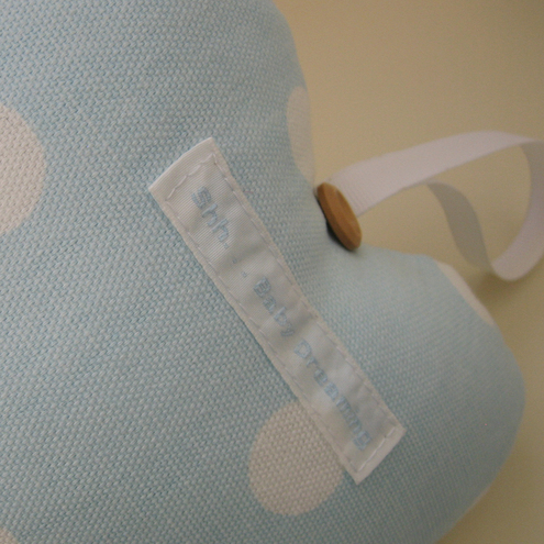 Blue Polka Dot Baby Door Hanging Heart