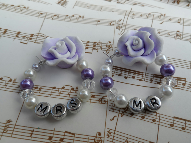 Mr & Mrs Glass Charms