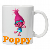 Personalised Troll Poppy Mug