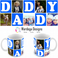 Personalised collage Daddy mug.